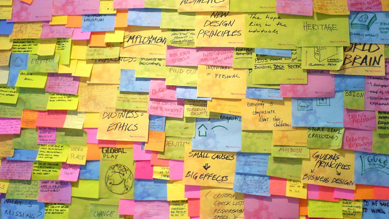 Как трябва да изглежда стената след успешна сесия Brainwriting
