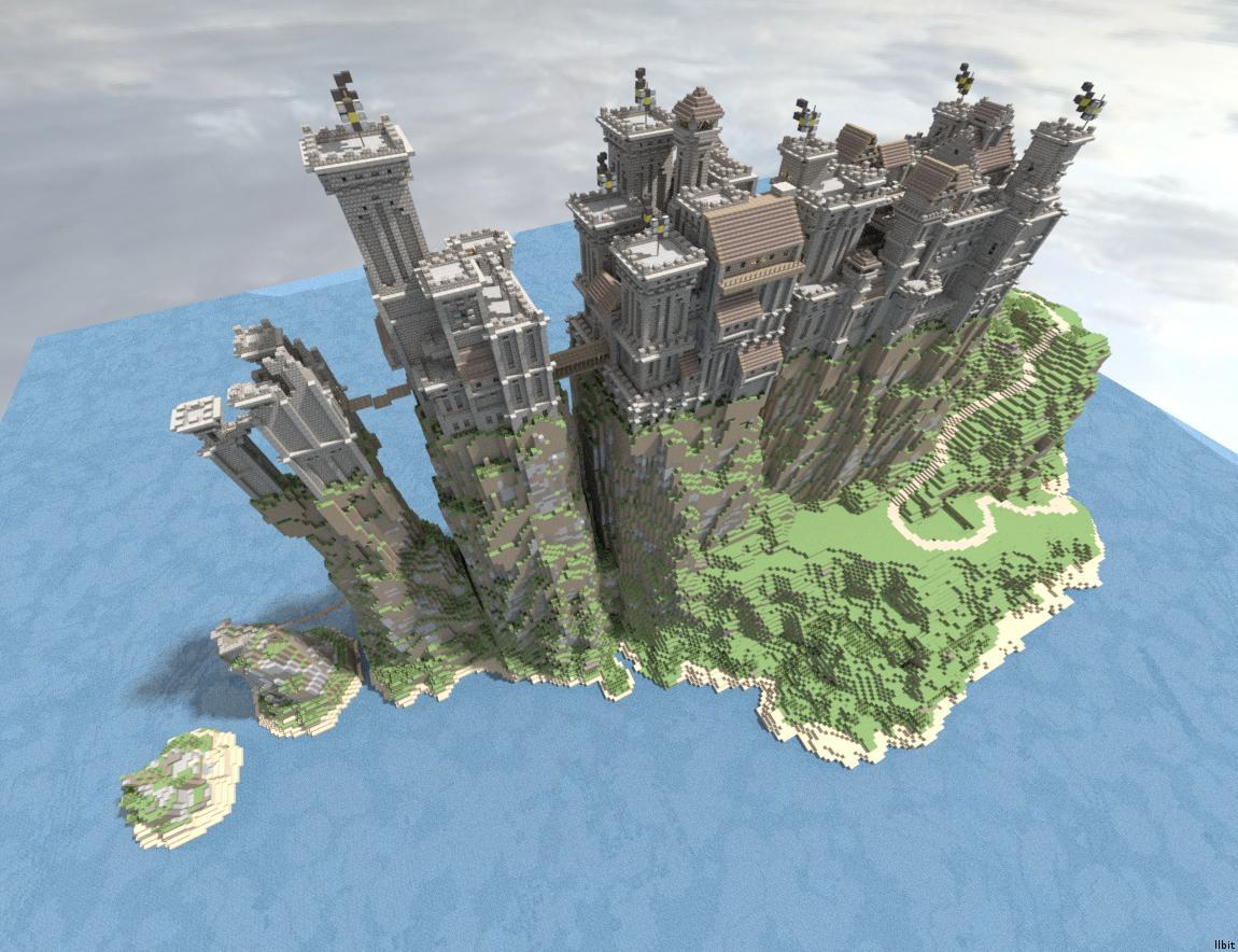 Minecraft структура построена от играч
